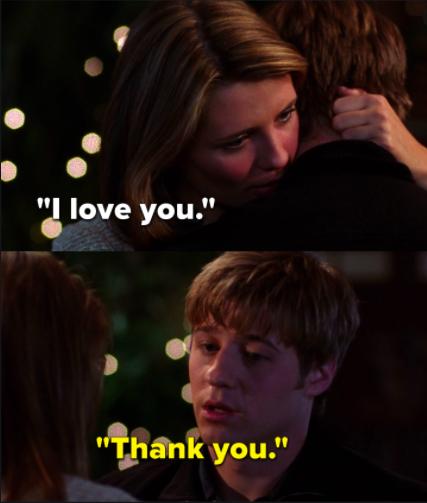 "Marissa: ""I love you,"" Ryan: ""Thank you"""