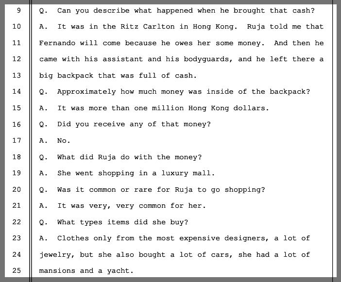 Transkript der Aussage von Konstantin Ignatov vor einem US-Gericht.