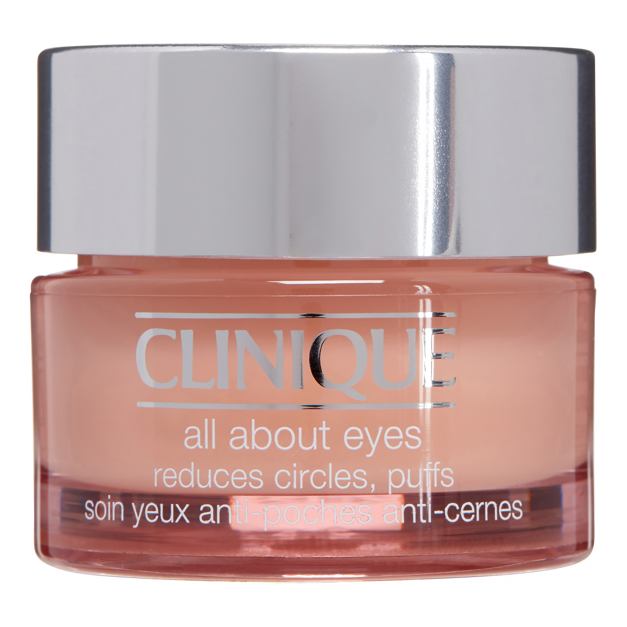 Clinique all about the eyes product in pink bottle