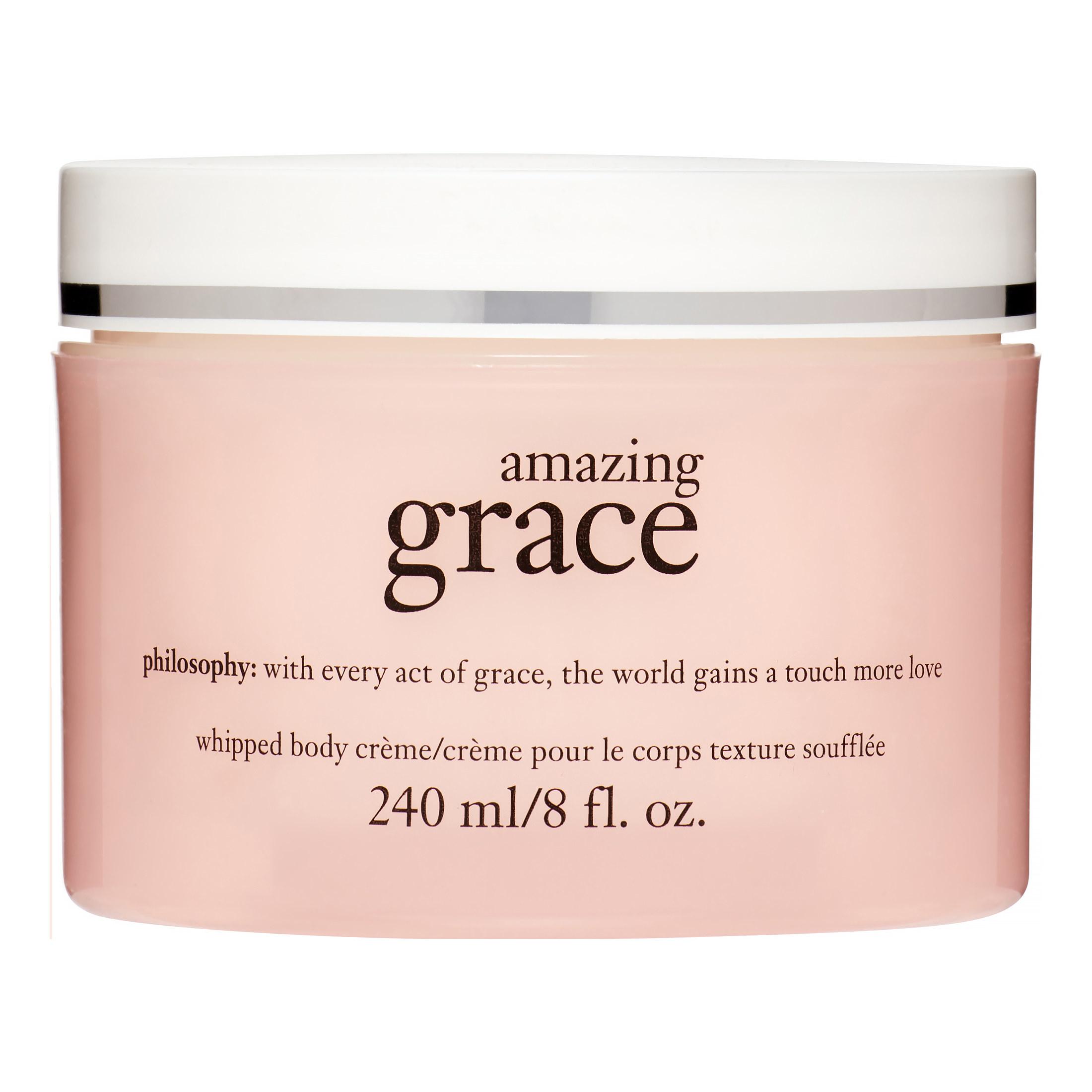 Pink jar of philosophy amazing grace whipped body cream