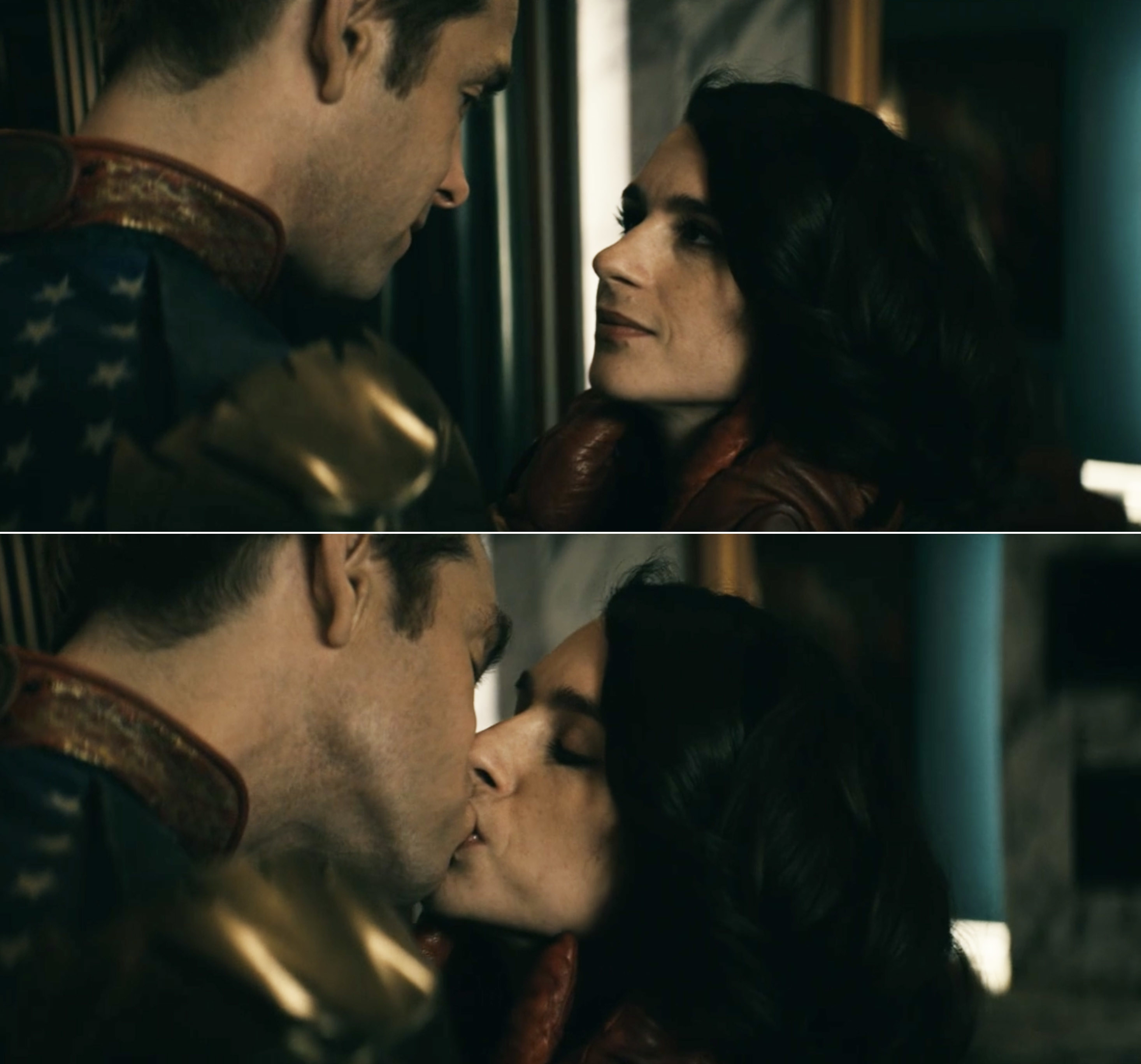 Homelander and Stormfront kissing