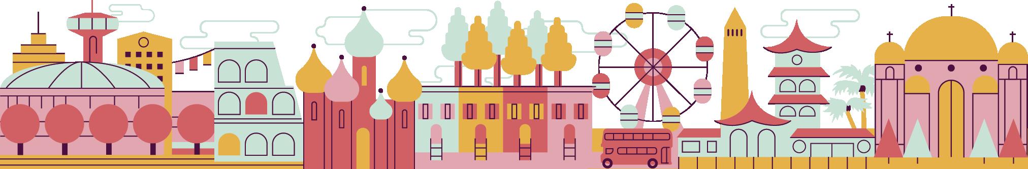 illustrated city skyline
