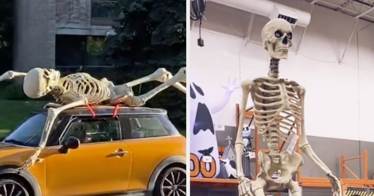 Home Depot S 12 Foot Skeleton Is A Halloween Must Have
