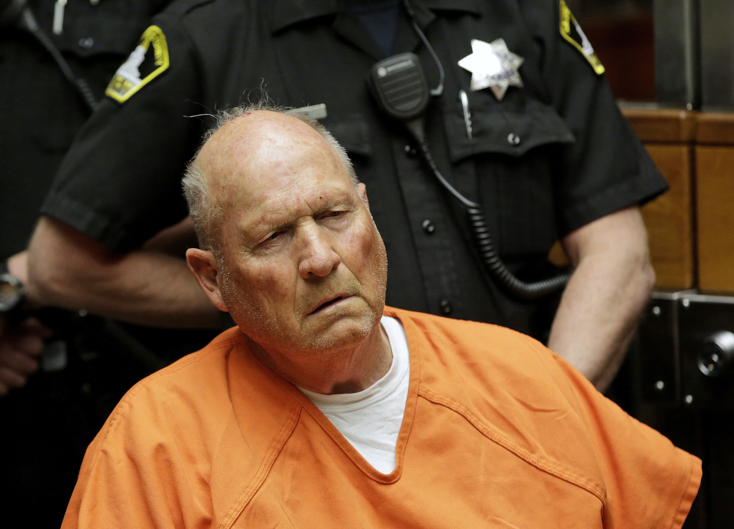 Photo of the Golden State Killer during his trial.