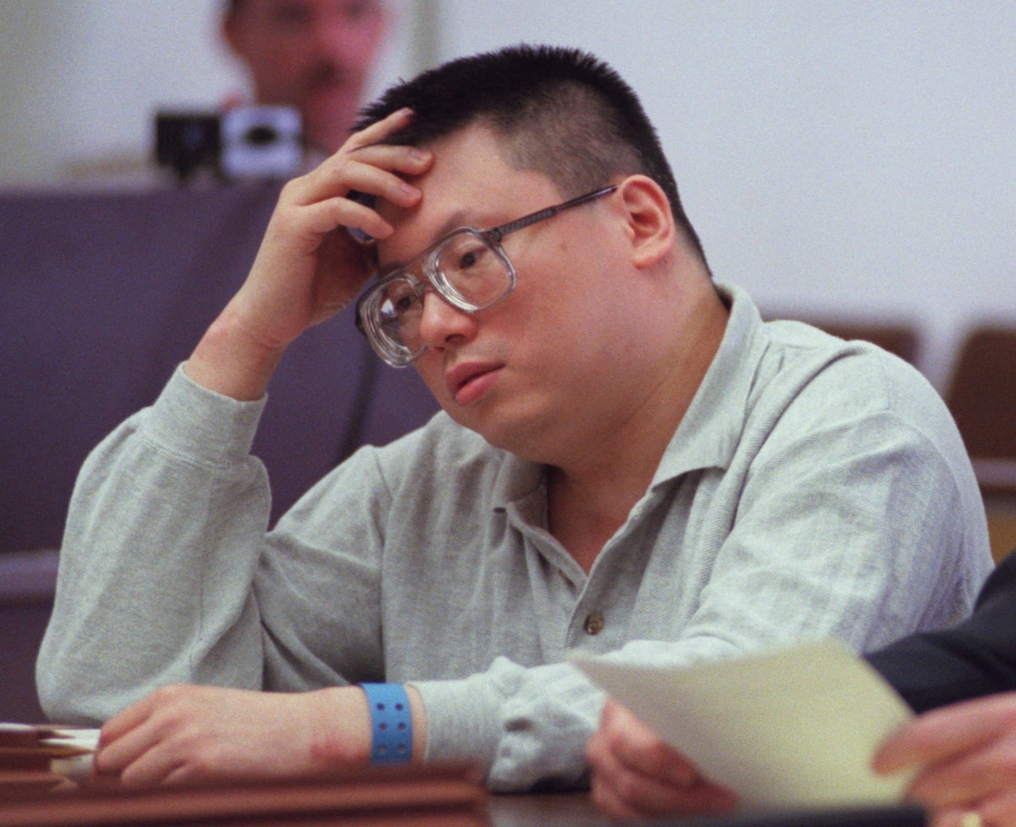 Photo of Charles Ng during his trial.