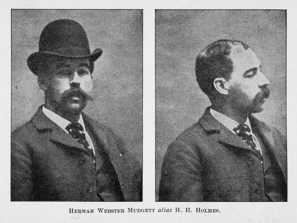 Side-by-side mugshot of H. H. Holmes.