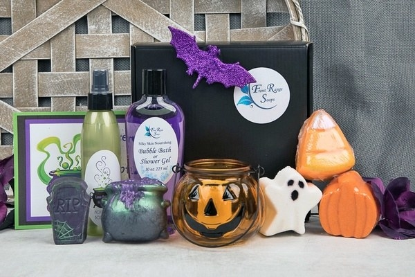 Halloween-themed bath and spa products