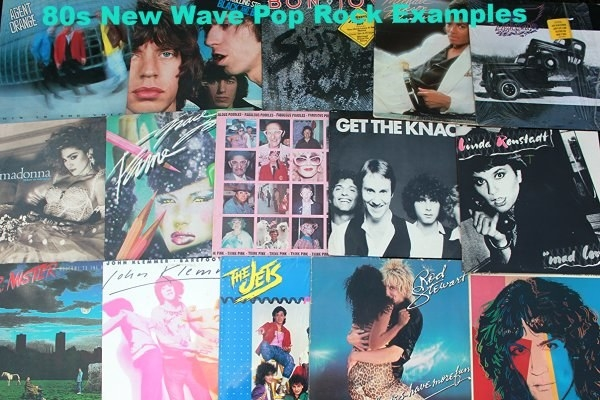 a collection of 80s new wave pop vinyl