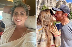 Lady Gaga on an airplane, Lily Collins and Charlie Mcdowell engaged