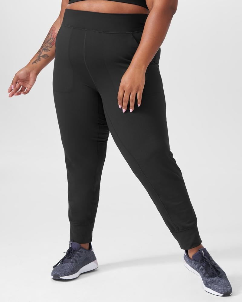 A person ears a pair of joggers and runners