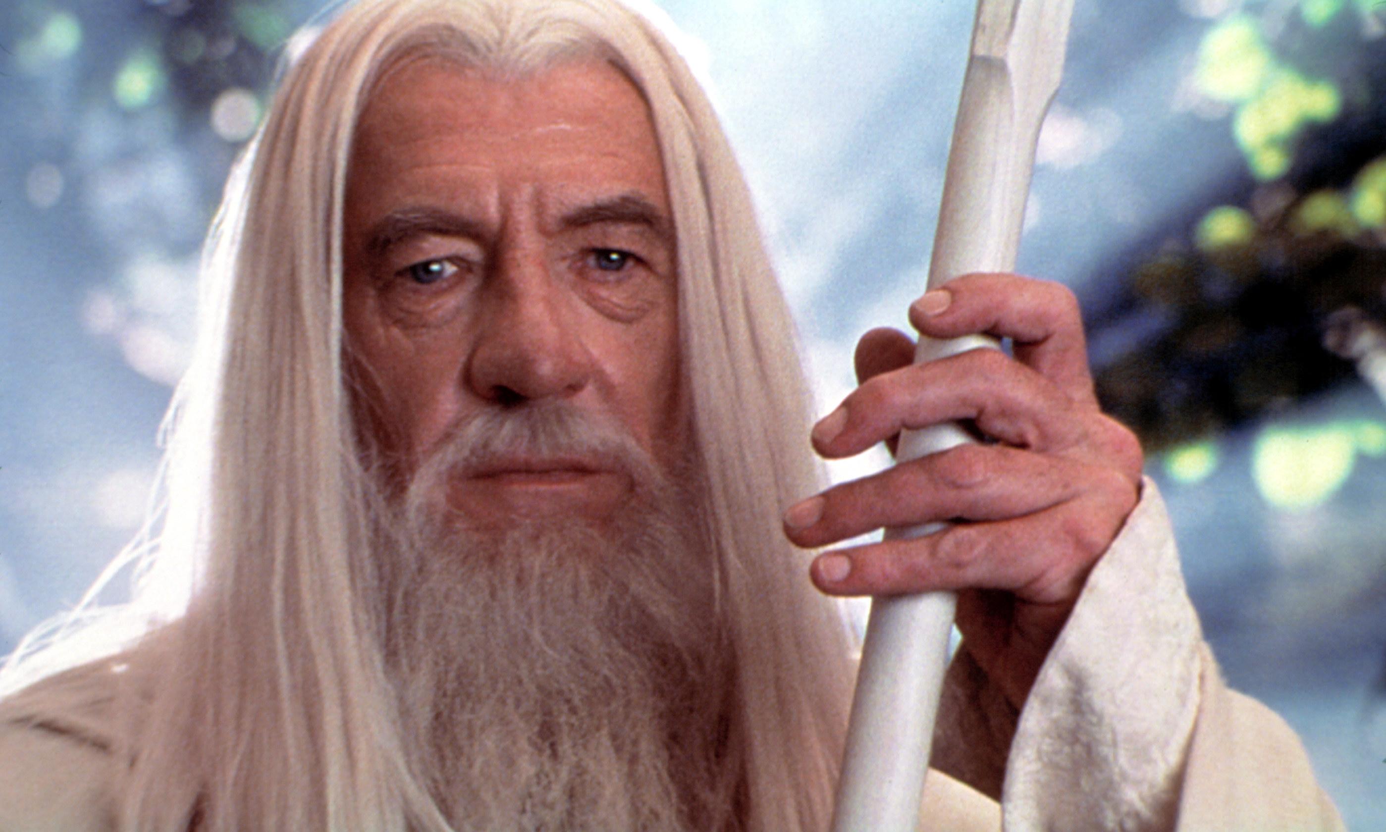Gandalf holding his staff