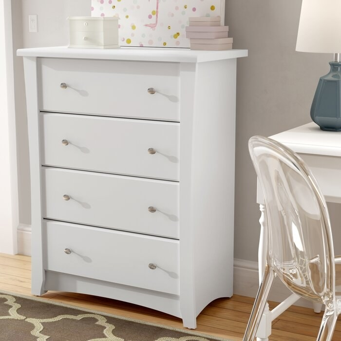 The white drawer chest