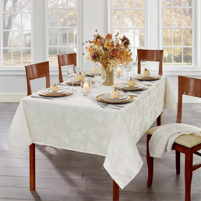 The ivory tablecloth