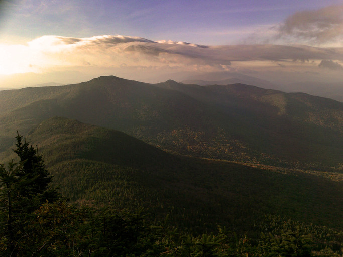 Sunrise view from Camel's Hump in Vermont's Green Mountains