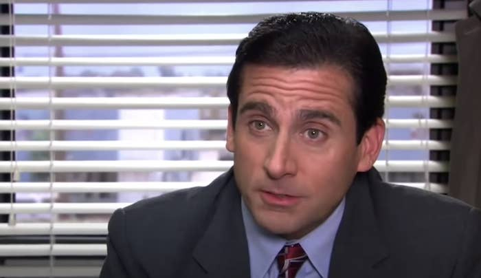 Michael talking in his office