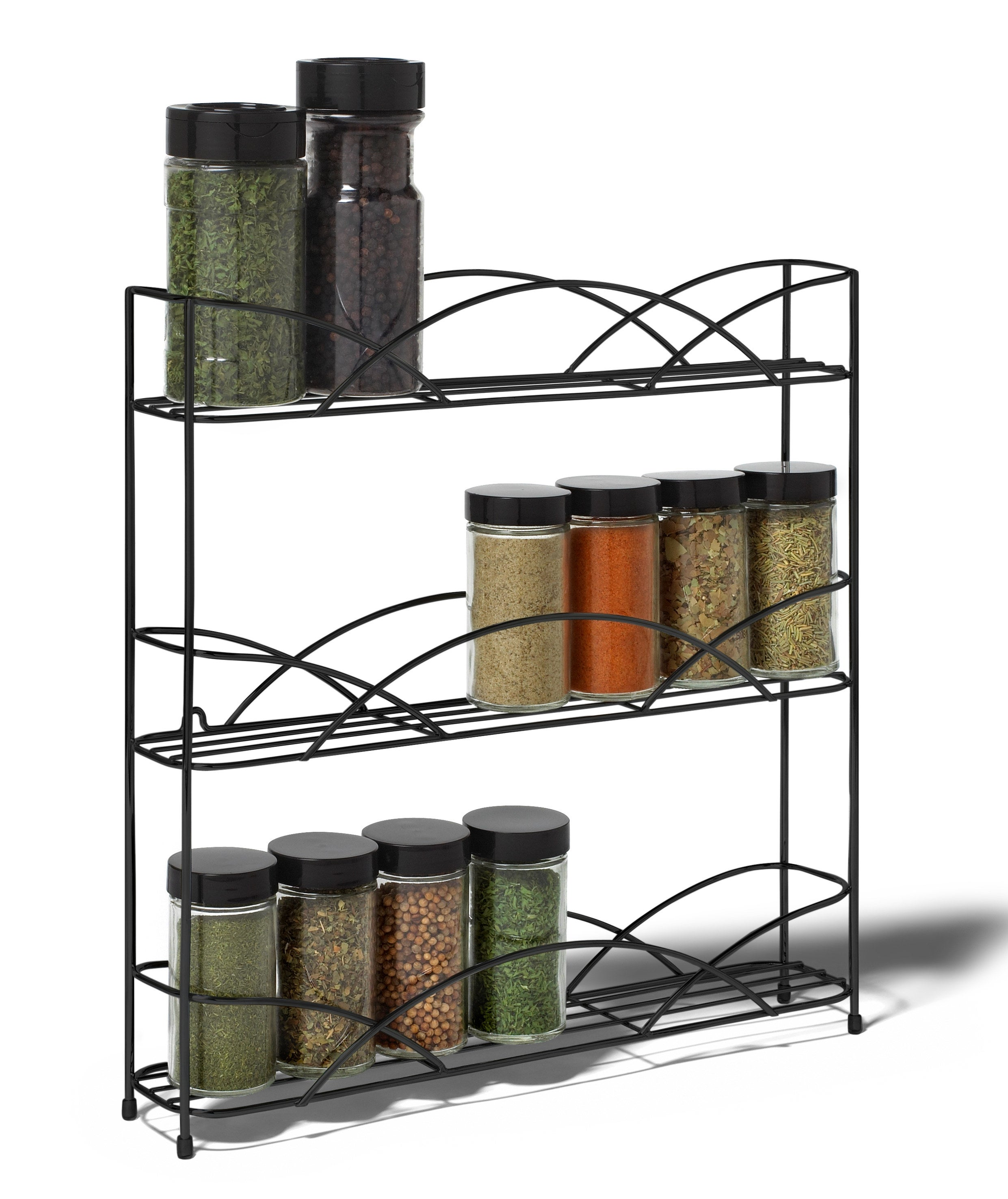 Black spice rack