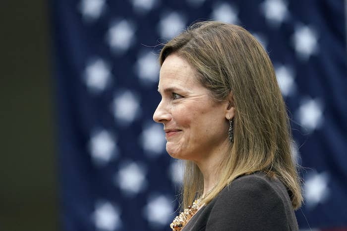 Trump Nominated Judge Amy Coney Barrett For Justice Ruth Bader Ginsburg's Seat On The Supreme Court