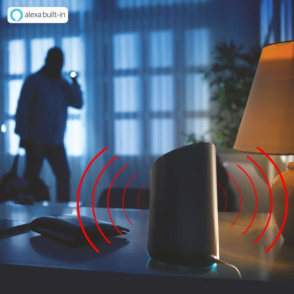 An image showing the device detecting the presence of an intruder in the dark.