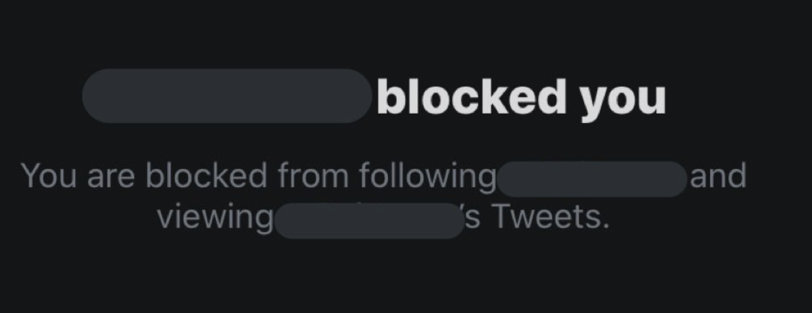 And then they get blocked