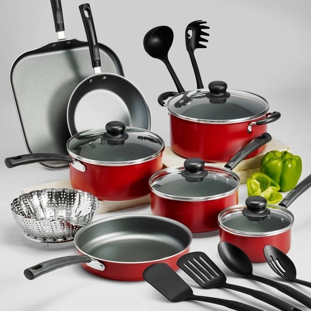 The red cookware set