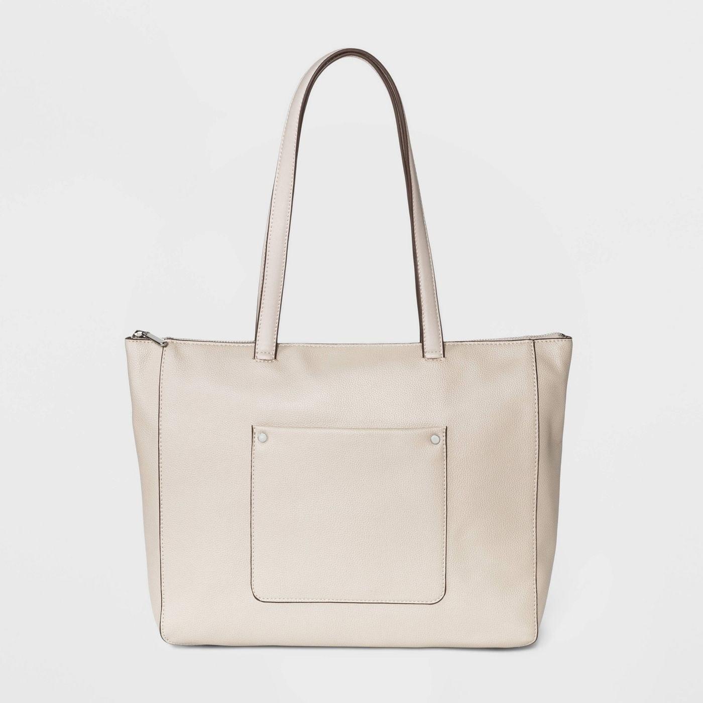 The beige bag