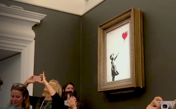 Banksy's self-destructing painting on auction at Sotheby's