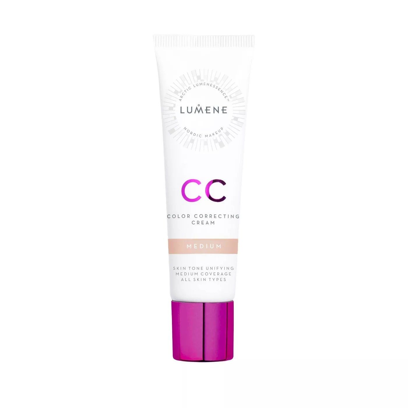 The color-correcting cream in the medium shade
