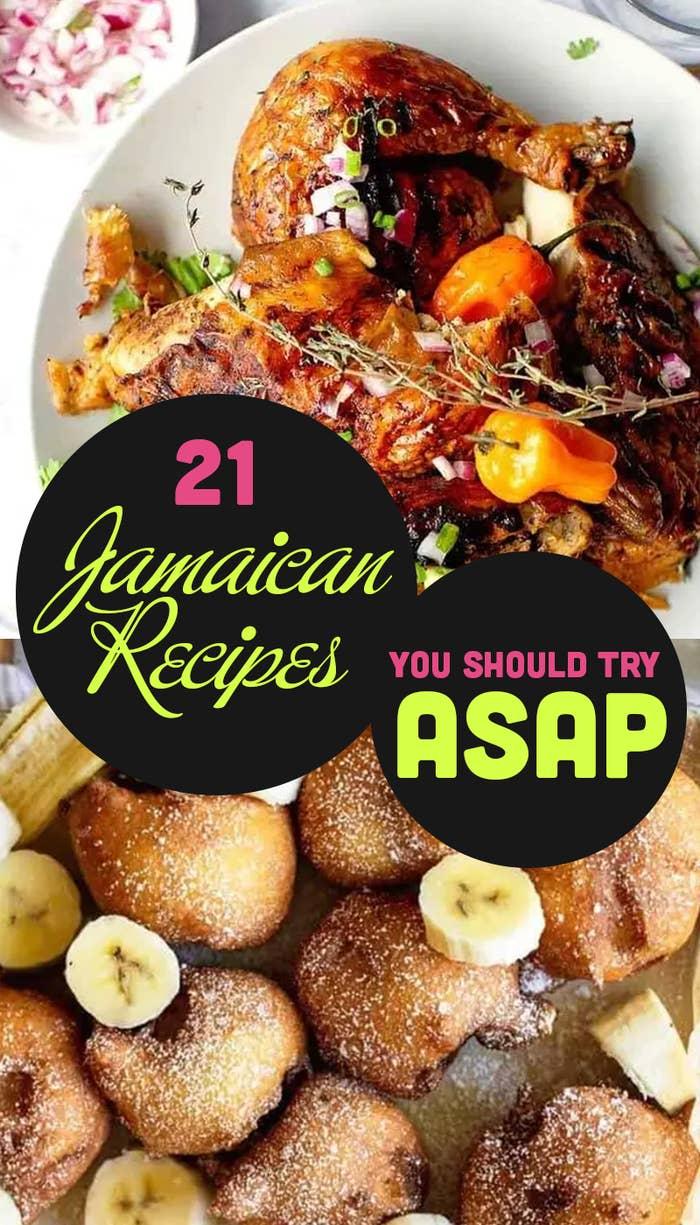 """A """"Jamaican Recipes"""" Pinterest header."""