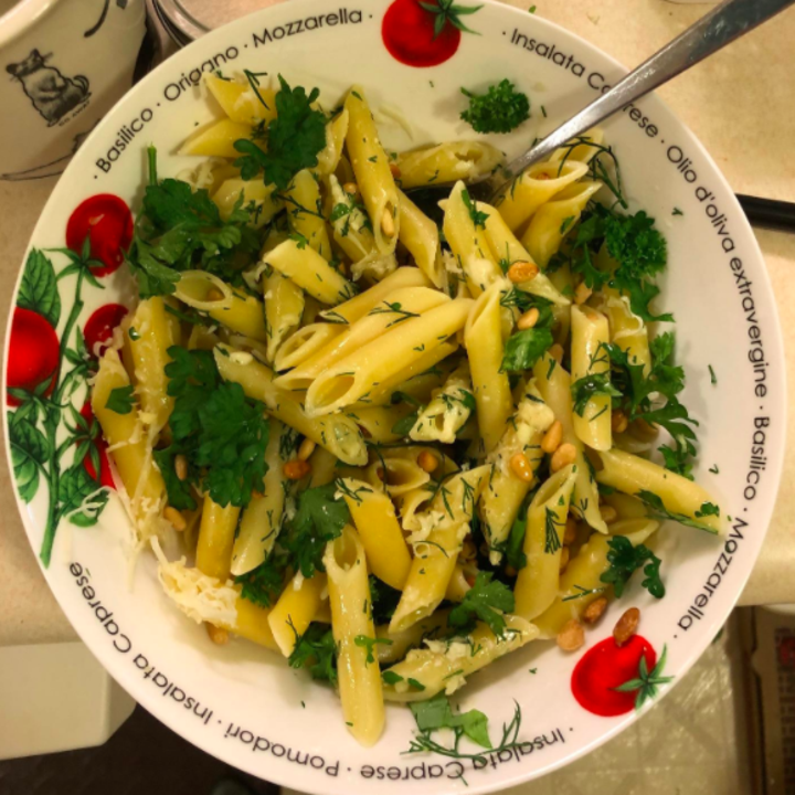 the herbs used to make a delicious pasta dish
