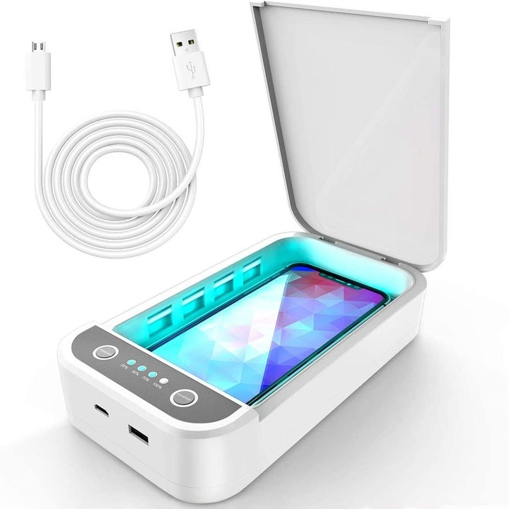 The UV light portable cell phone sanitizer