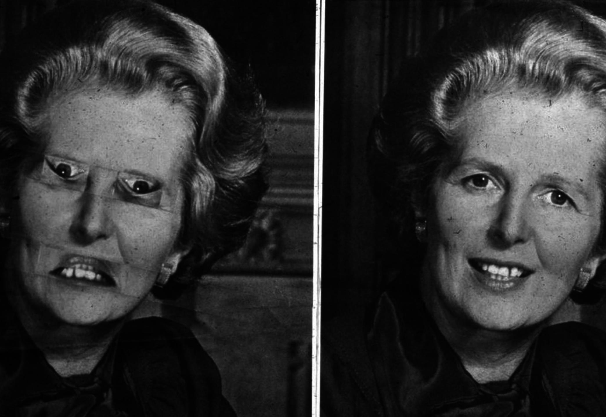 Thatcher Effect demonstrated on Maragret Thatcher.
