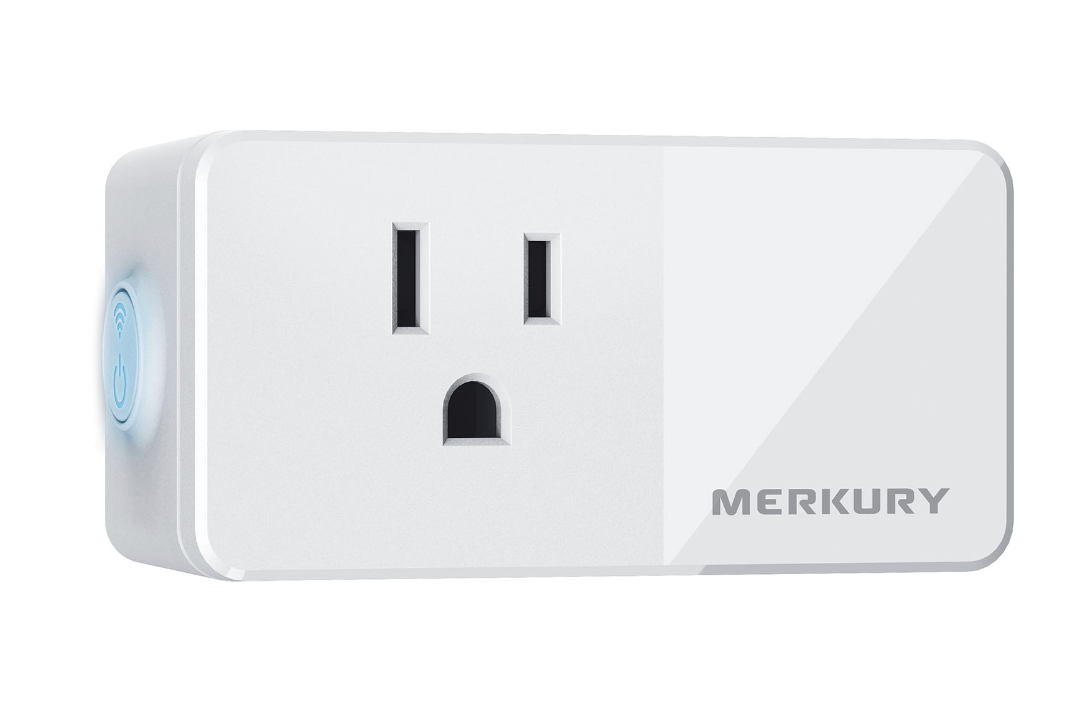 The white rectangular smart plug