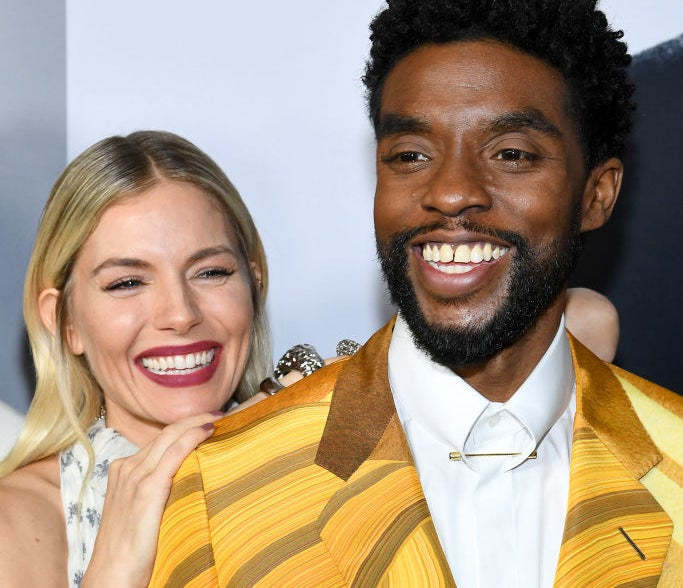"Sienna Miller and Chadwick Boseman attend the ""21 Bridges"" New York Screening"