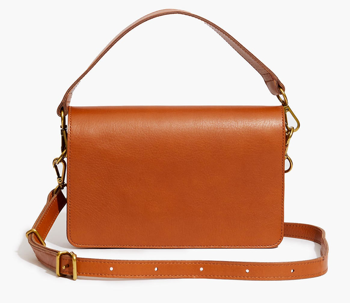 the dark toffee leather purse
