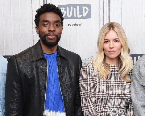 Chadwick Boseman and Sienna Miller visit the Build Series