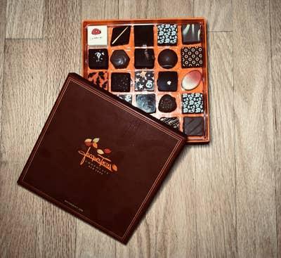 the box of assorted halloween chocolates