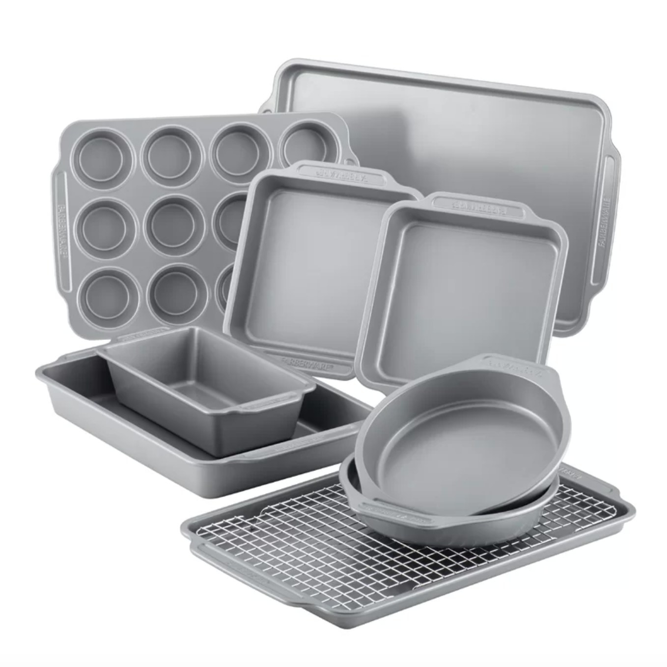 The baking set with all ten items displayed