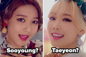 Images of Sooyoung and Taeyeon of Girls Generatioon