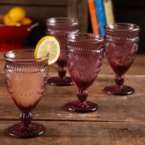 The plum glassware
