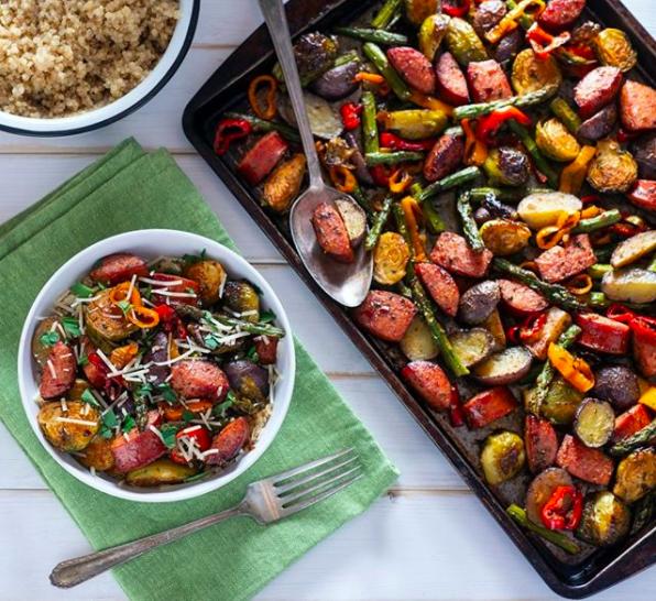 sheet pan roasted vegetables