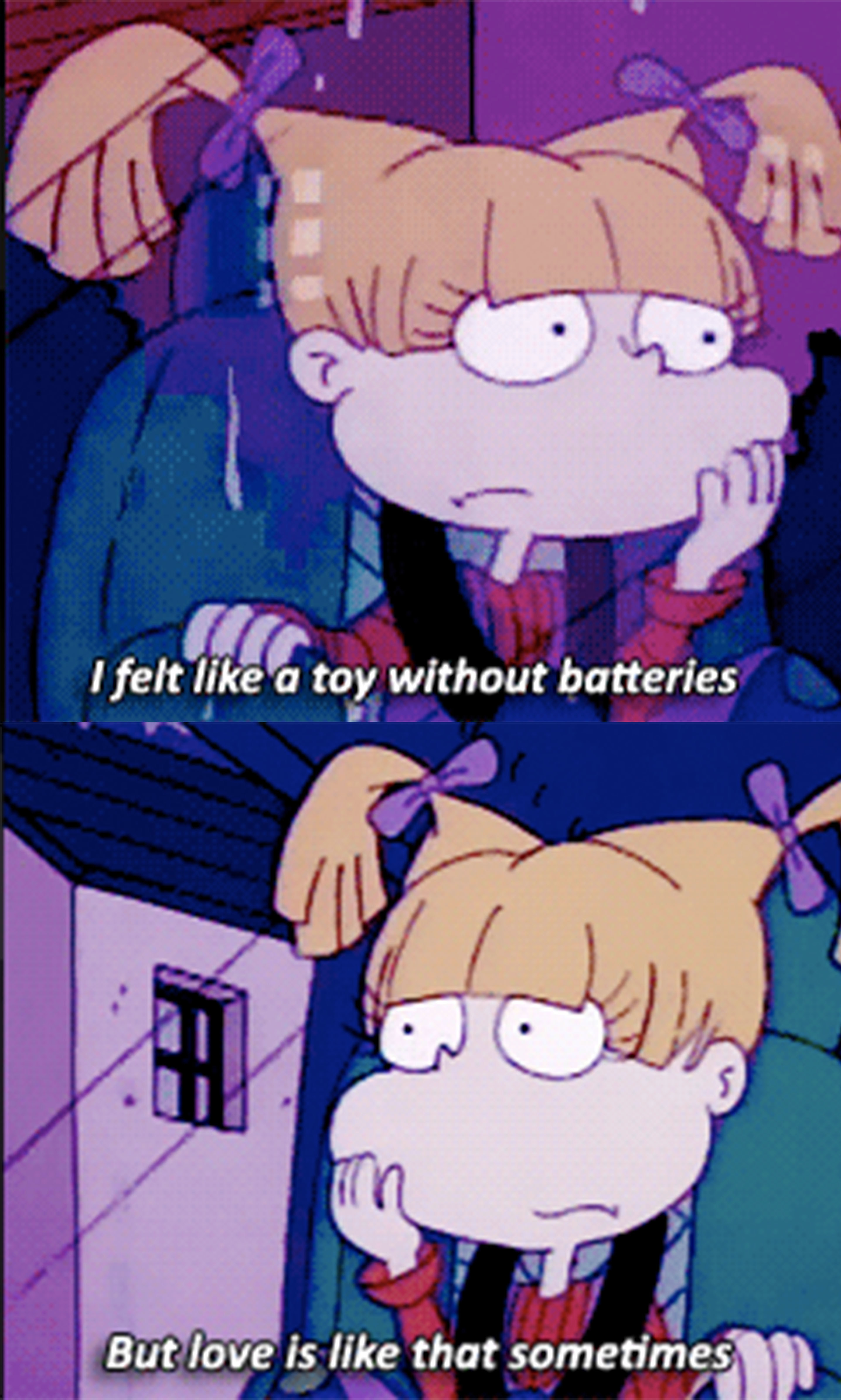 """Angelica: """"I felt like a toy without batteries, but love is like that sometimes"""""""