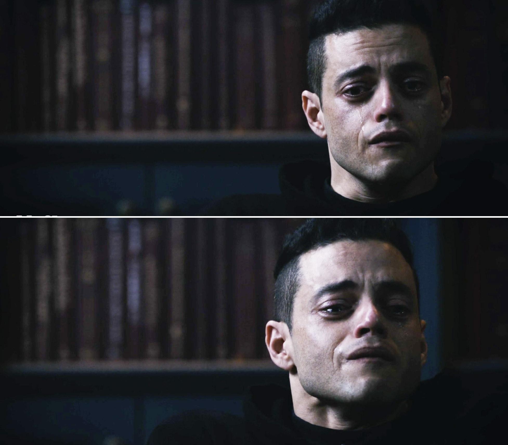 Elliot sobbing