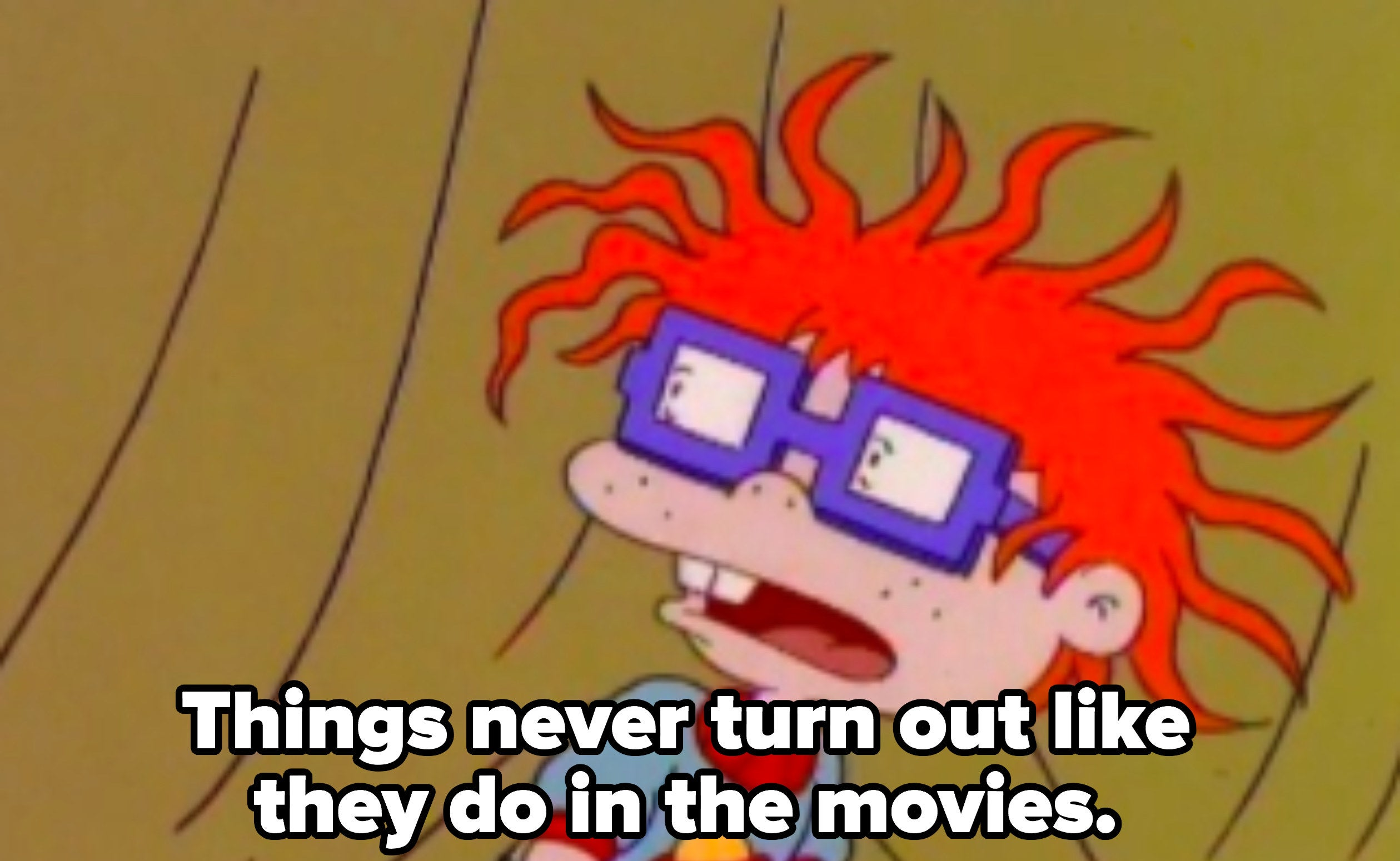 """Chuckie: """"Things never turn out like they do in the movies"""""""