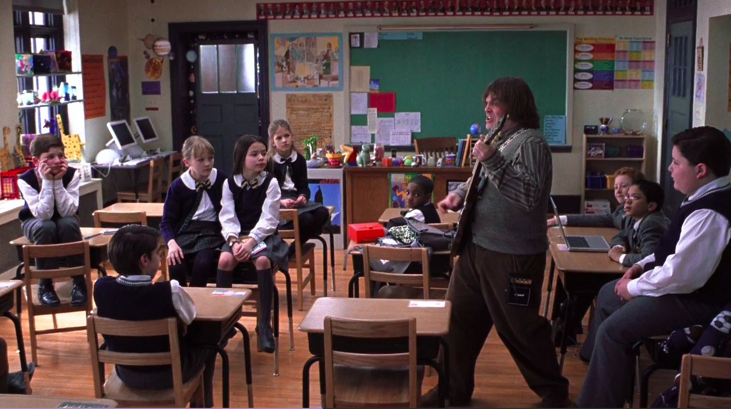 "Jack Black in ""School of Rock"""