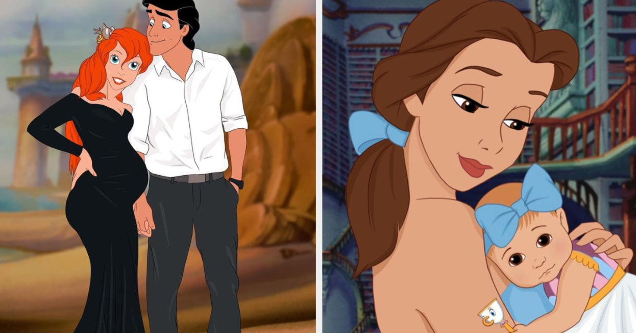 This Artist Draws Disney Princesses As Moms And It