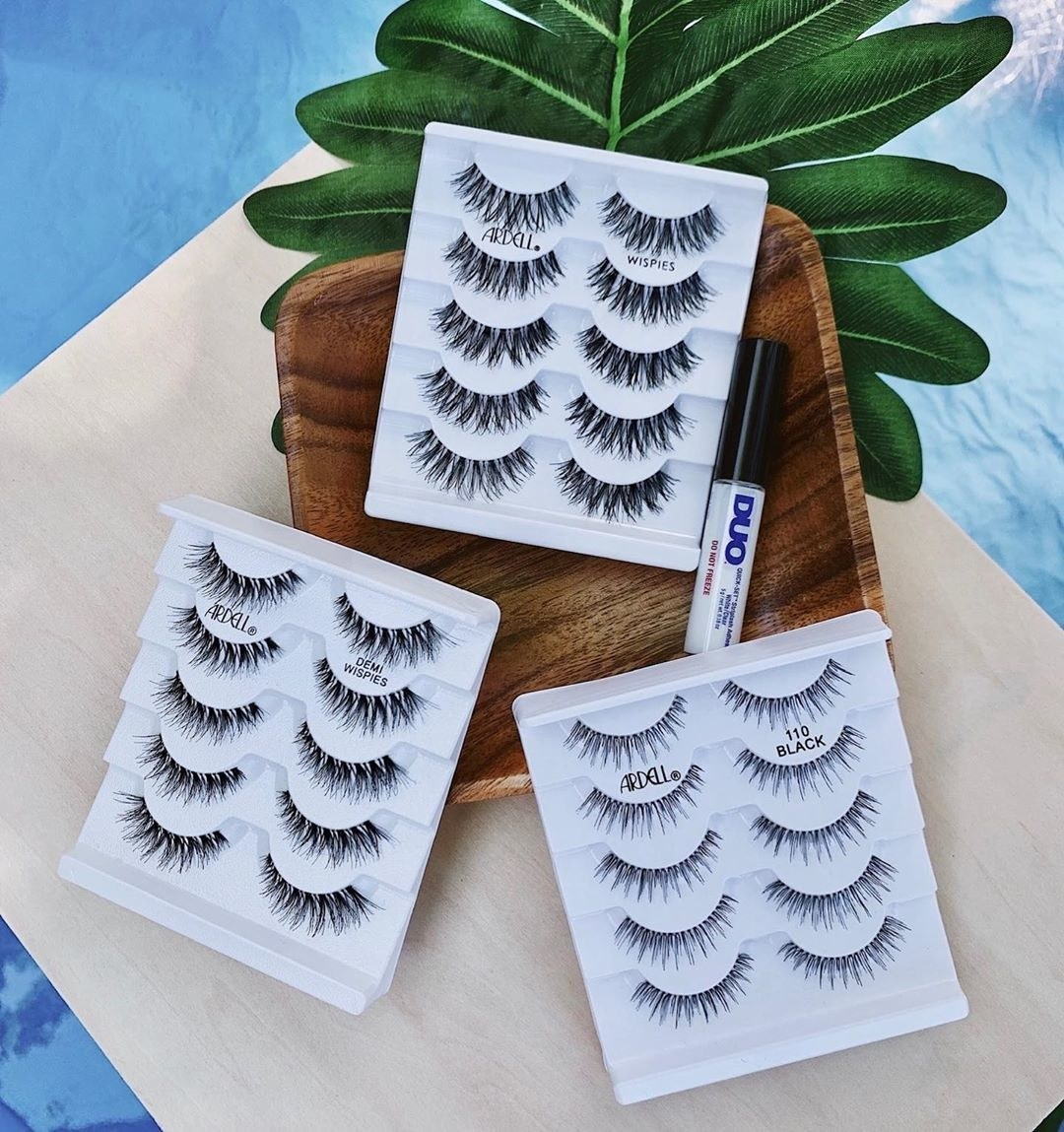 Fake eyelashes on a tabletop
