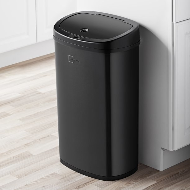 The black trash can