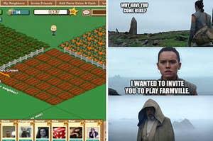 A screenshot of the original Farmville game