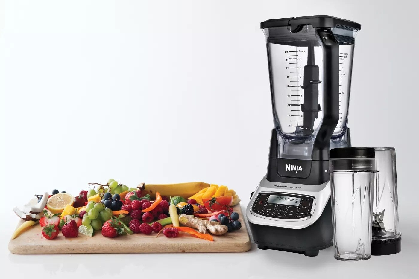 The Ninja blender with two travel-sized cups