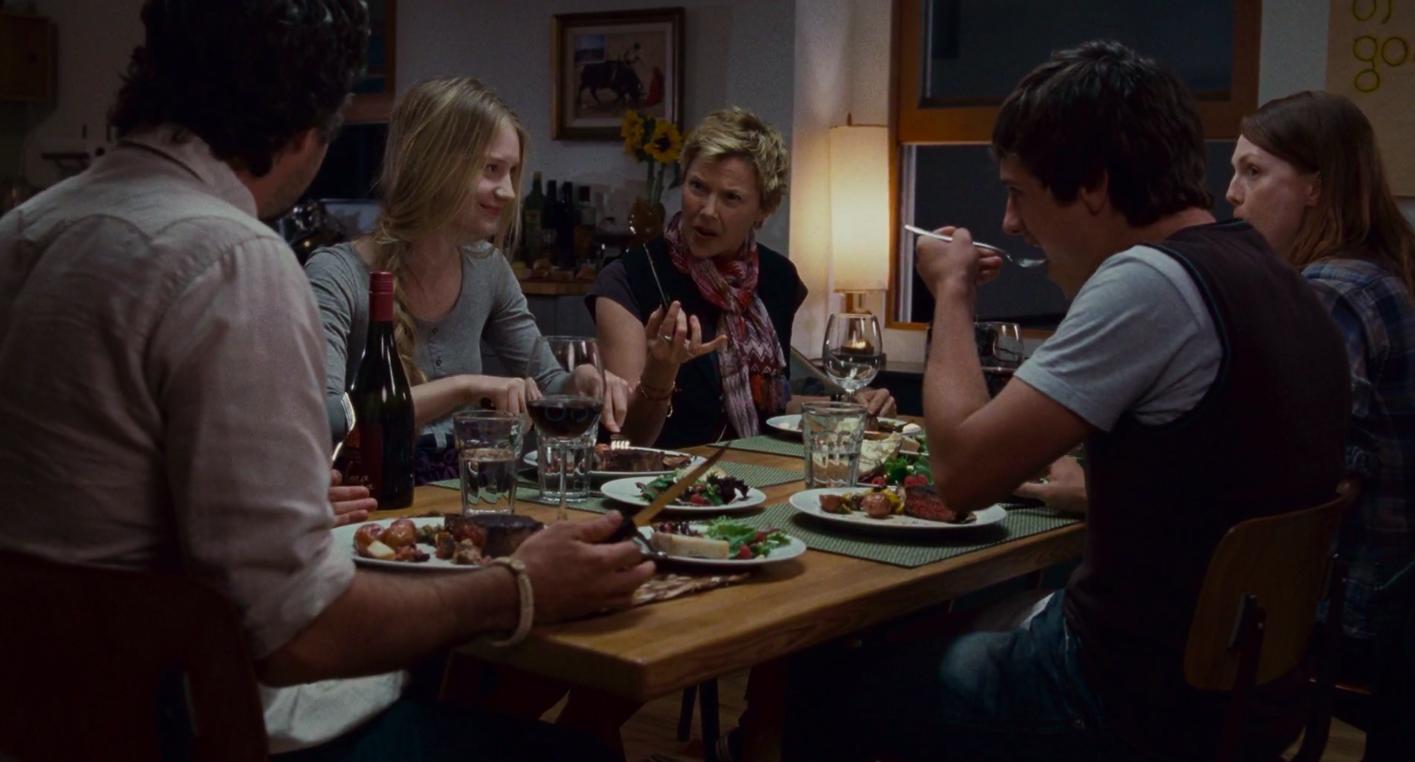"Annette Bening, Julianne Moore, Mark Ruffalo, Mia Wasikowska, and Josh Hutcherson in ""The Kids Are All Right"""